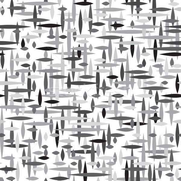 Abstract irregular striped line seamless pattern. Monochrome geo Stock photo © Terriana