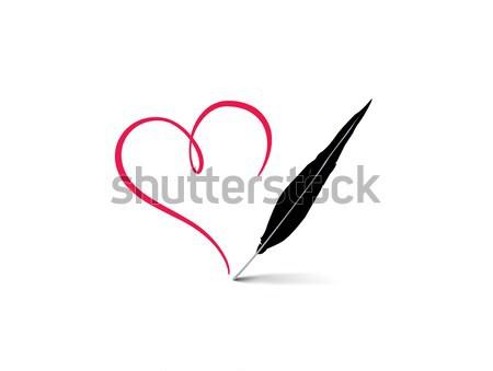 Amor coração vermelho assinar Foto stock © Terriana