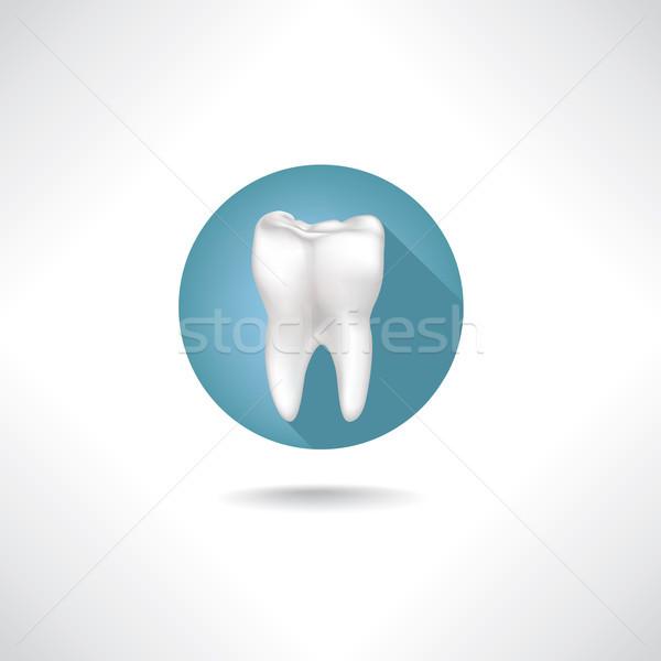 Tandheelkundige icon tand teken medische knop Stockfoto © Terriana