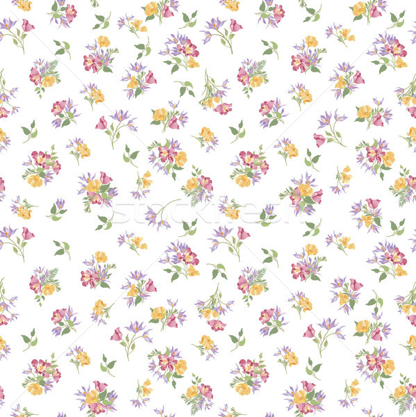 印刷 フローラル パターン 花 飾り 夏 ストックフォト © Terriana