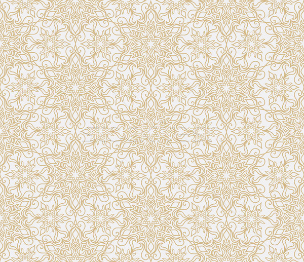 Abstract oriental floral seamless pattern. Arabic flower geometr Stock photo © Terriana