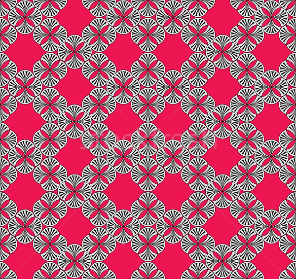 Abstract floral ornament. Geometric orieental seamless pattern. Stock photo © Terriana