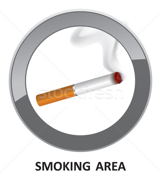 Smoking area label. Smoking Area Icon. Vector Info Sign. Stock photo © Terriana