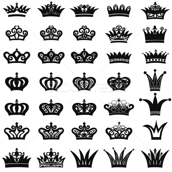 Crown icon set Stock photo © Terriana