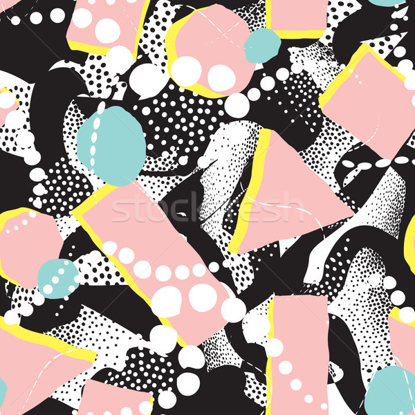 Abstract blot seamless pattern. Dotted painting background Stock photo © Terriana