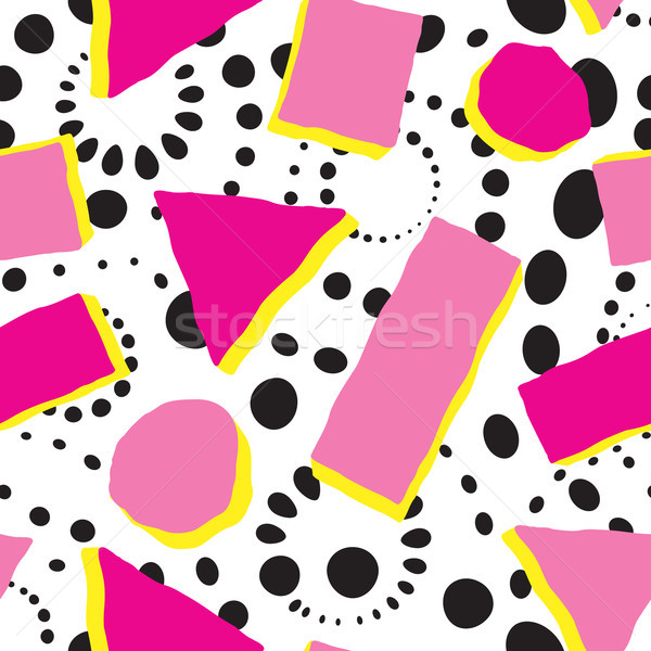 Abstract spot seamless pattern. Chaotic geometric shape circle background Stock photo © Terriana