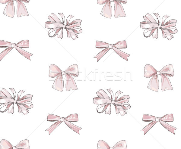 Bow tiled pattern. Bride team bow icons. Holiday gift wallpaper. Stock photo © Terriana