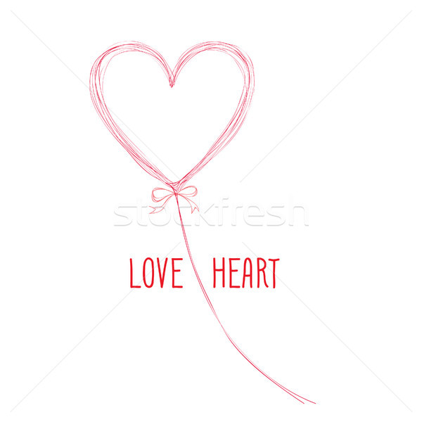 Doodle Liebe Zeichen handschriftlich Herzform Stock foto © Terriana