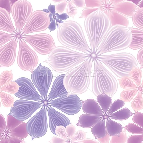 Patroon bloem naadloos zacht bloeien Stockfoto © Terriana