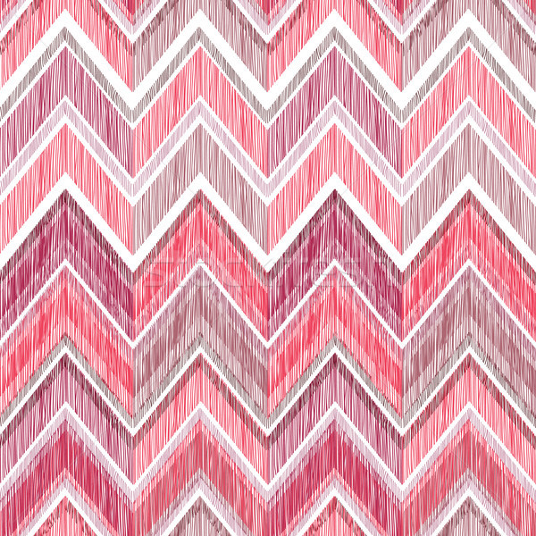 Abstract zig zag geometric tiled pattern. Fabric doodle line orn Stock photo © Terriana
