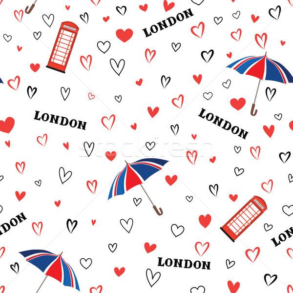 Stock fotó: Utazás · London · város · végtelen · minta · szeretet · szívek