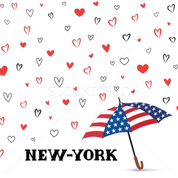 Voyage USA amour New York City modèle coeur Photo stock © Terriana