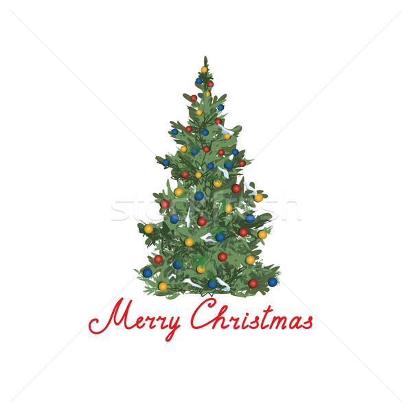 Noel ağacı kış tatil tebrik kartı dizayn Stok fotoğraf © Terriana