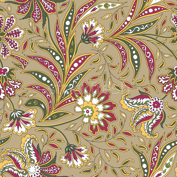 Floral seamless pattern. Flourish oriental ethnic background. Stock photo © Terriana