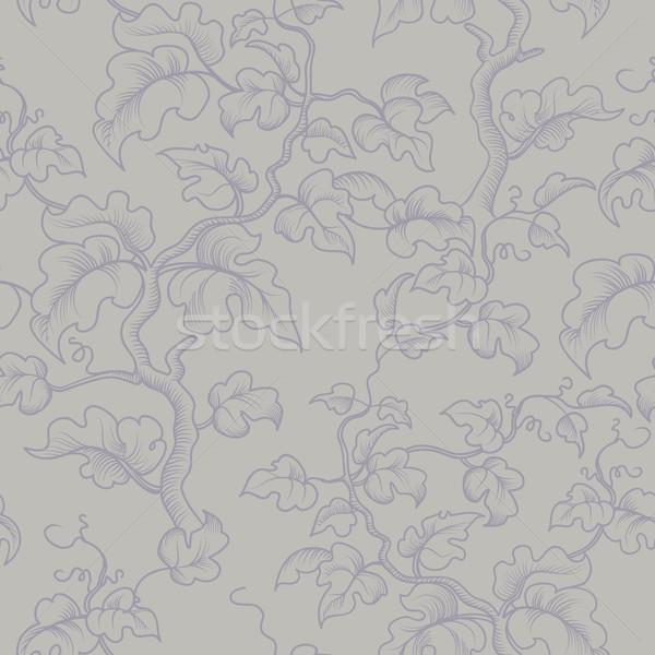 Virágmintás végtelen minta dekoratív növény ág levelek Stock fotó © Terriana