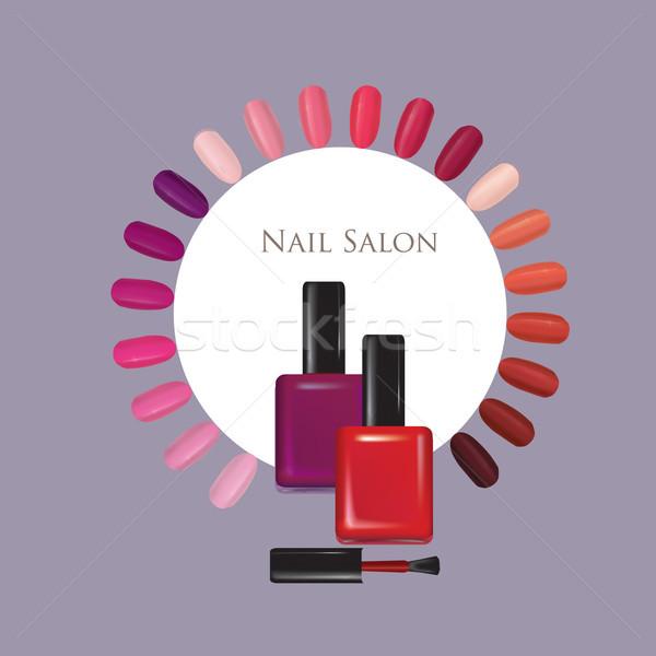Nail beauty salon background. Manicure nails polished sign. Stock photo © Terriana