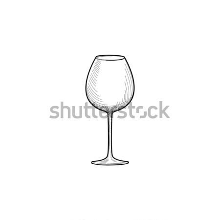 Vazio copo de vinho ilustração copo de vinho artigos de vidro Foto stock © Terriana