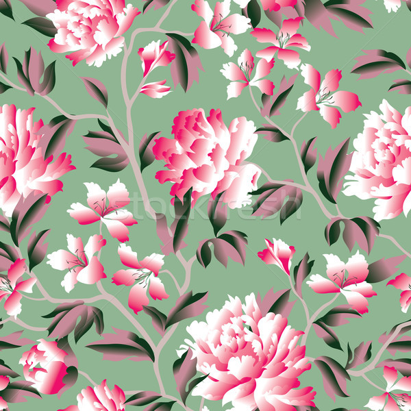 Floral seamless pattern. Flower background. Flourish garden texture Stock photo © Terriana