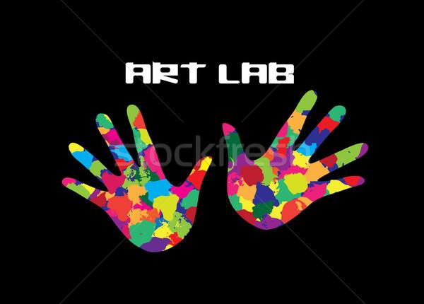 искусства лаборатория икона окрашенный рук вдохновение Сток-фото © Terriana
