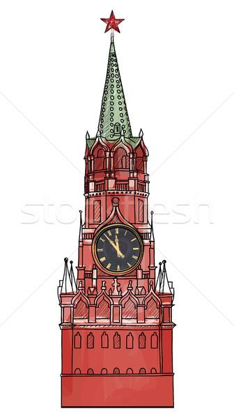 Kule yalıtılmış Moskova şehir simge Kızıl Meydan Stok fotoğraf © Terriana