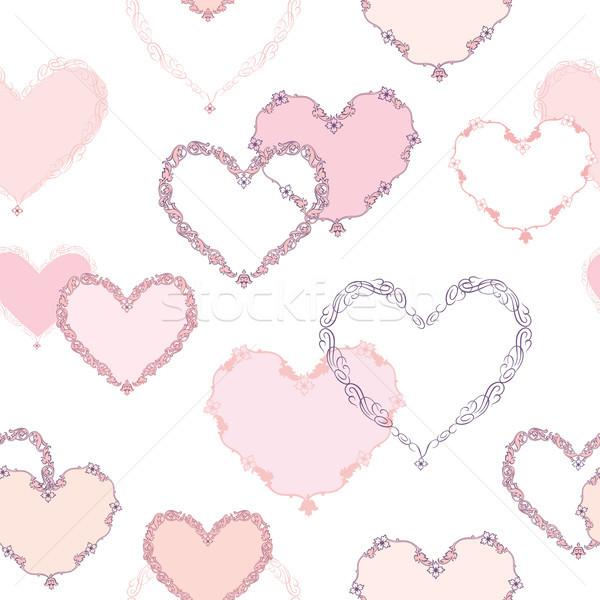 Coeur Valentin jour carte vacances Photo stock © Terriana