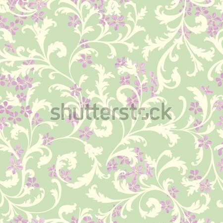 цветочный цветок Swirl декоративный Живопись Сток-фото © Terriana