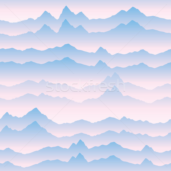 Abstract golvend berg skyline natuur landschap Stockfoto © Terriana