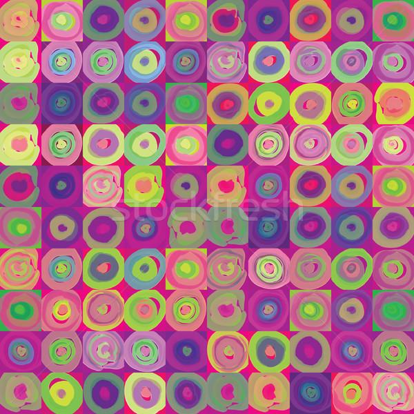 Absztrakt mértani végtelen minta buborék díszítő körök Stock fotó © Terriana