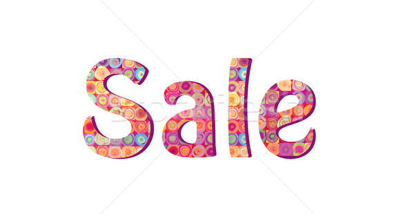 Sale sign. Season sale icon. Colorful tag Stock photo © Terriana