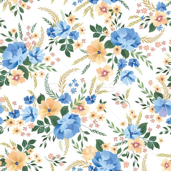 Floral seamless pattern. Flower background. Ornamental garden flowers Stock photo © Terriana