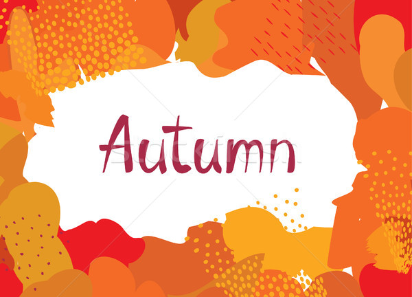 Abstract autumn background design. Сreative fall poster with fr Stock photo © Terriana
