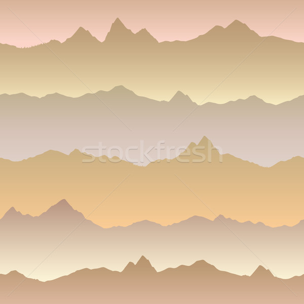 Abstract wavy mountain skyline background. Nature seamless patte Stock photo © Terriana
