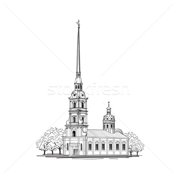 Saint-Petersburg city. St. Peter & Paul Cathedral building, Russia. Travel russian landmark Stock photo © Terriana