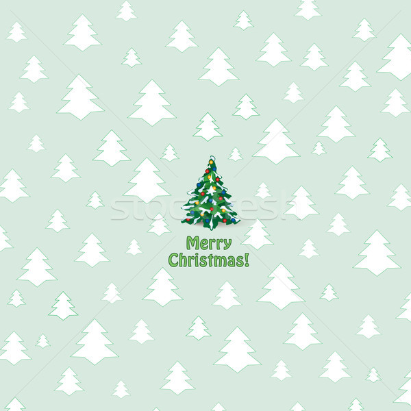 Merry Christmas Greeting Card. Winter holiday background Stock photo © Terriana