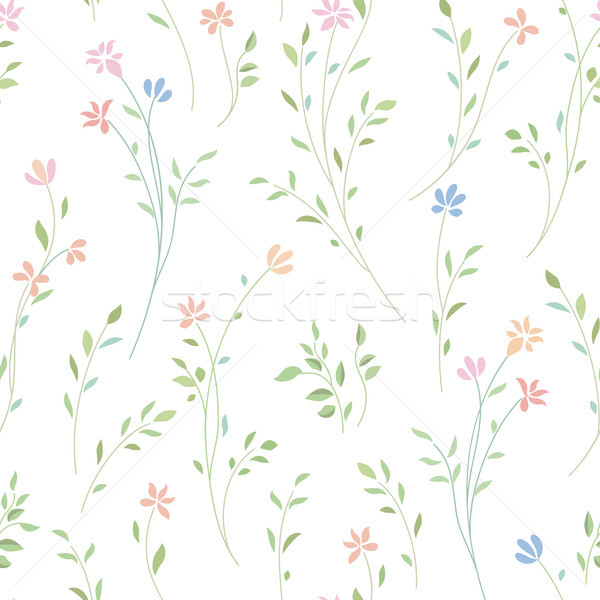 Floral seamless pattern. Flower background. Flourish garden text Stock photo © Terriana