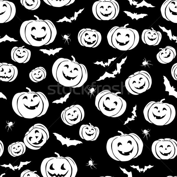 Boldog halloween végtelen minta ünnep buli denevér Stock fotó © Terriana