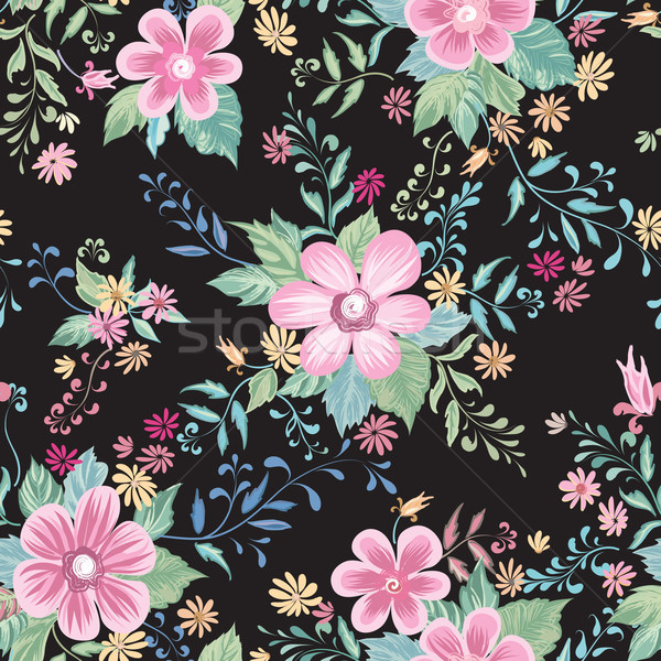 Floral seamless pattern. Abstract ornamental flowers. Flourish ditsy print Stock photo © Terriana