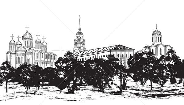 Russo antica città panorama viaggio Russia Foto d'archivio © Terriana