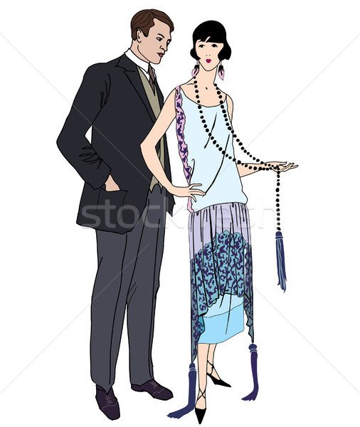 Couple fête vintage style 1920 homme Photo stock © Terriana