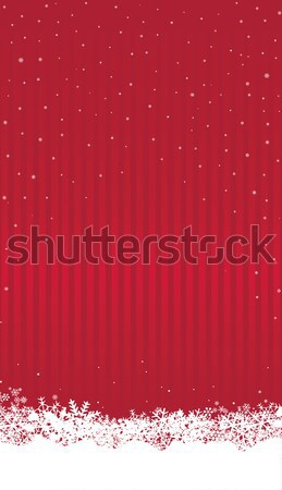 Christmas snow background Winter Holiday Snowfall Stock photo © Terriana