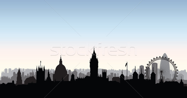 London city buildings silhouette. English urban landscape. Londo Stock photo © Terriana