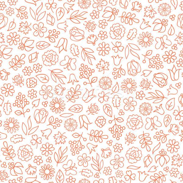 цветок икона цветочный листьев нежный Сток-фото © Terriana