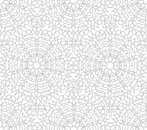 Absztrakt virágmintás vonal távolkeleti csempe minta Stock fotó © Terriana