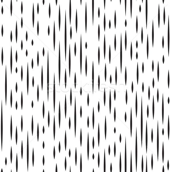 Abstract irregular striped line seamless pattern. Black & white Stock photo © Terriana