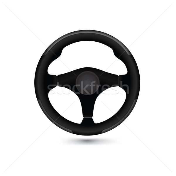 автомобилей руль икона карт изолированный Сток-фото © Terriana