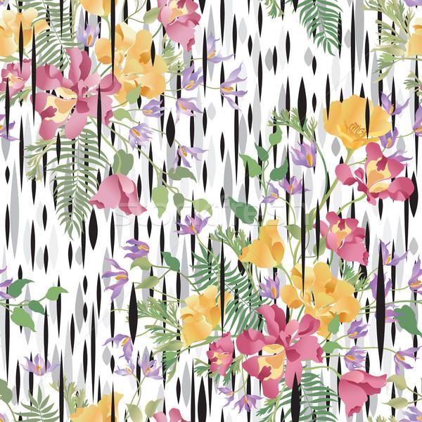 цветочный декоративный аннотация букет назад Сток-фото © Terriana