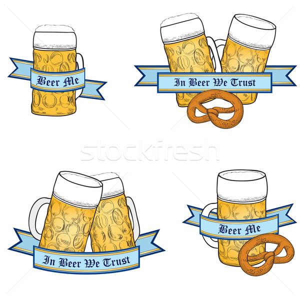 Octoberfest Beer icon set Stock photo © Terriana