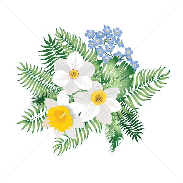 Wiosną charakter kwiatowy ogród wzór Zdjęcia stock © Terriana