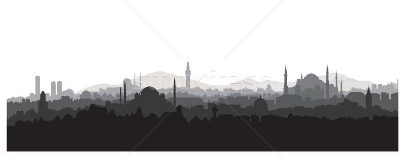 Isztambul városkép utazás Törökország török városkép Stock fotó © Terriana