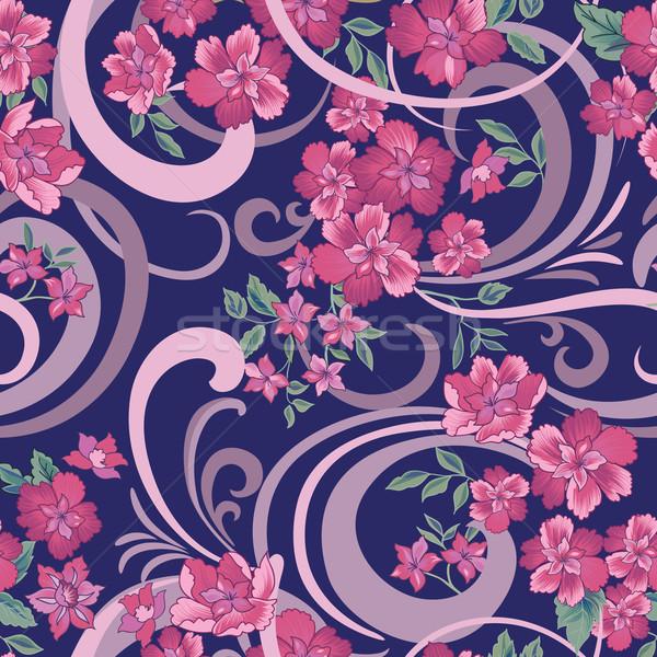 Floral abstrakten dekorativ Blumen Blume Stock foto © Terriana